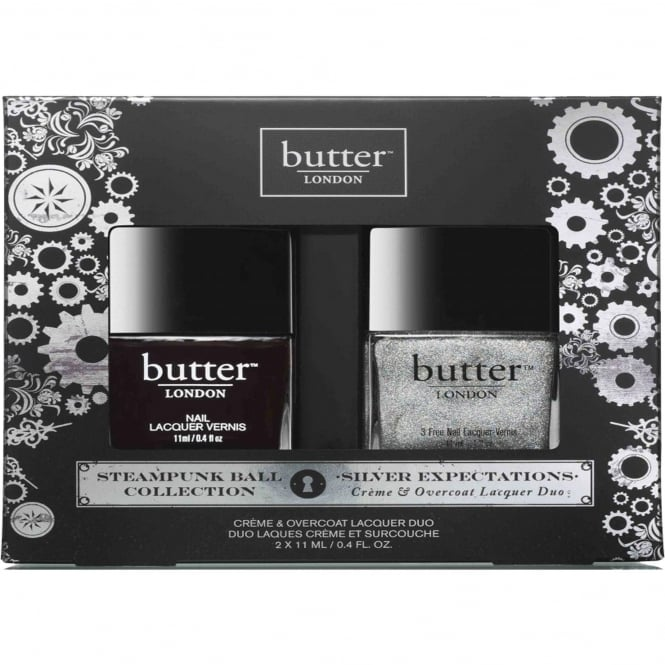 Butter London Nail Polish Collection Steampunks - Silver Expectation Duo Set (x2 11ml)