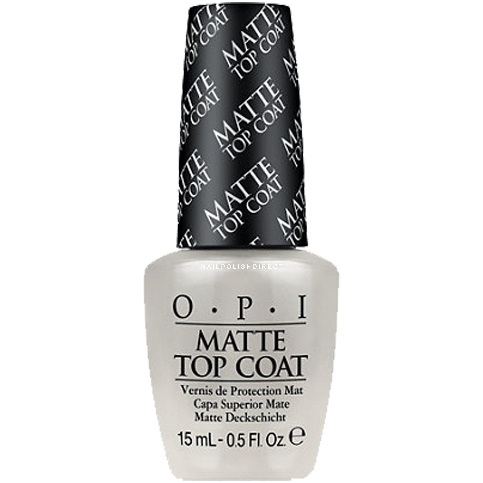 Opi Matte Nail Polish Top Coat Nt T35 15ml Nail Polish Direct