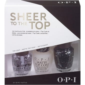 Nail Polish Set - Sheer To The Top - Natural & Matte Topcoats | So Elegant (3 x 15ml)