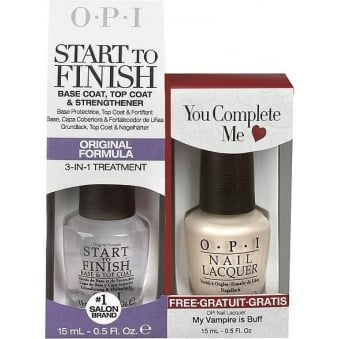 Nail Polish Set - You Complete Me Duo - Start To Finish Treatment & My Vampire Is Buff (2 X 15ml)