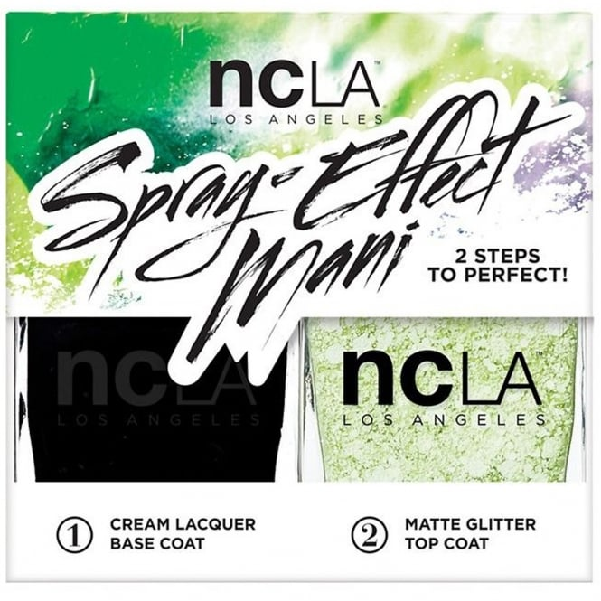 ncLA Los Angeles Nail Polish Spray Effect Collection Fashion Nail Lacquer Duo - Night Rider (x2 15ml)