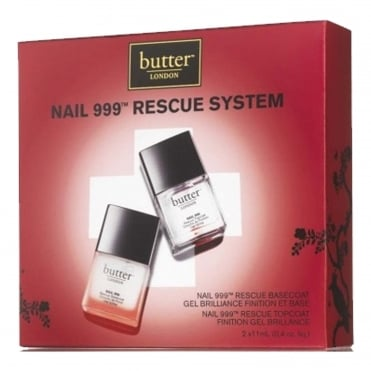 Nail Polish Treatment - Nail 999 Rescue System Base Coat & Top Coat (7710) (x2 11ml)
