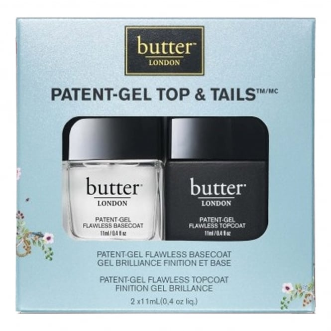 Butter London Nail Polish Treatment - Patent Gel Top & Tails Manicure Set (7130) (x2 11ml)