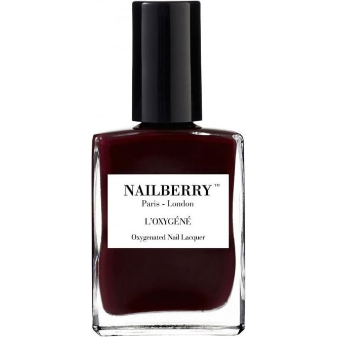 NailBerry Nail Polish Oxygenated Nail Lacquer - Noirberry 15ml
