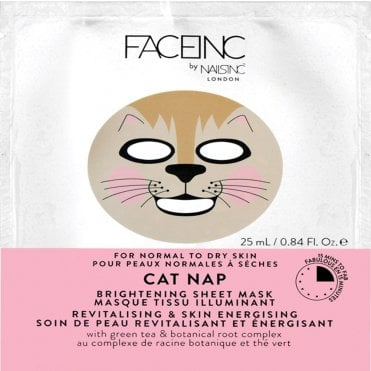 Face Inc - Brightening Sheet Mask - Cat Nap (9119) 25ml
