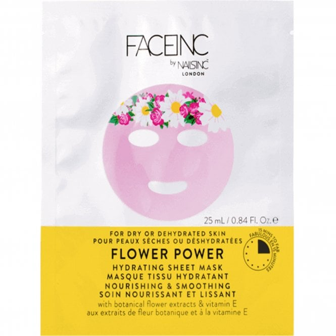 Nails inc Face Inc - Hydrating Sheet Mask - Flower Power (9120) 25ml