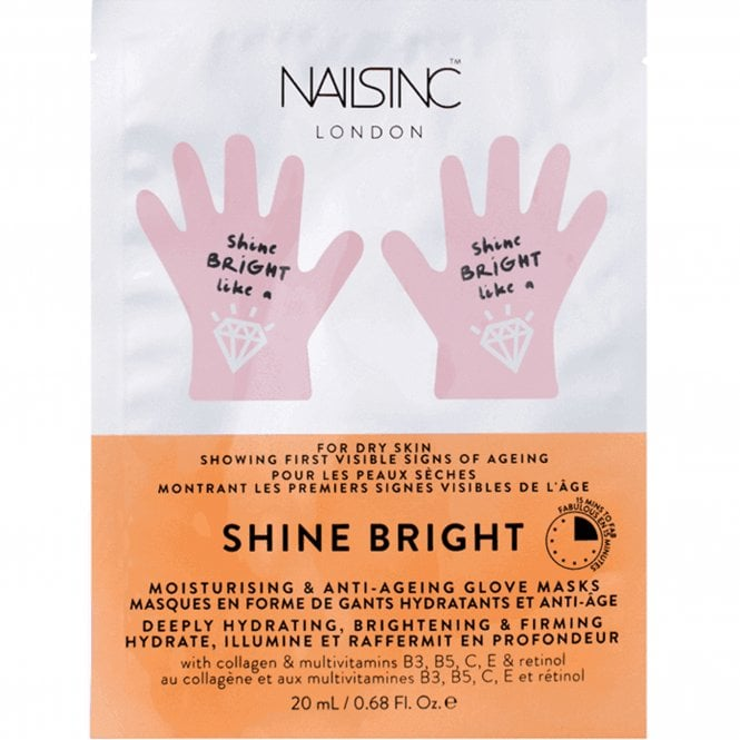 Nails inc Manicure Anti-Ageing Moisture Gloves - Shine Bright (9129) 20ml