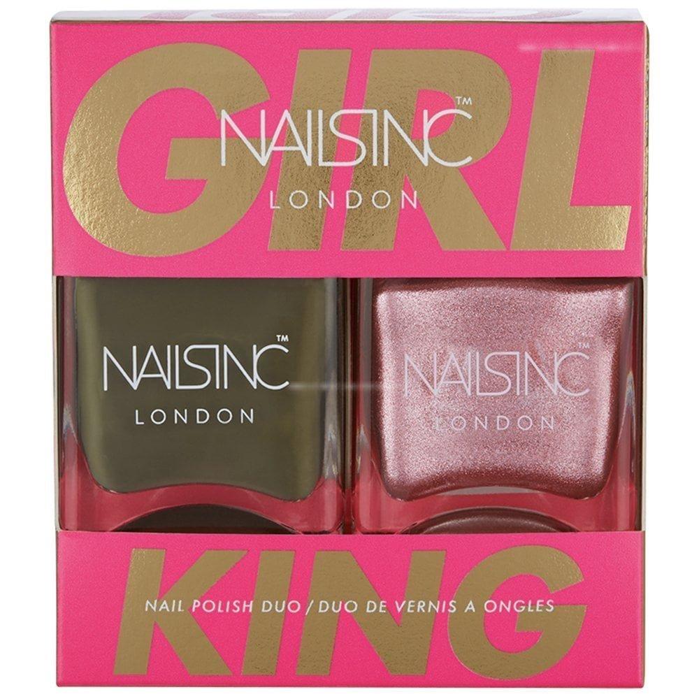 Nails Inc Girl King Nail Polish Duo