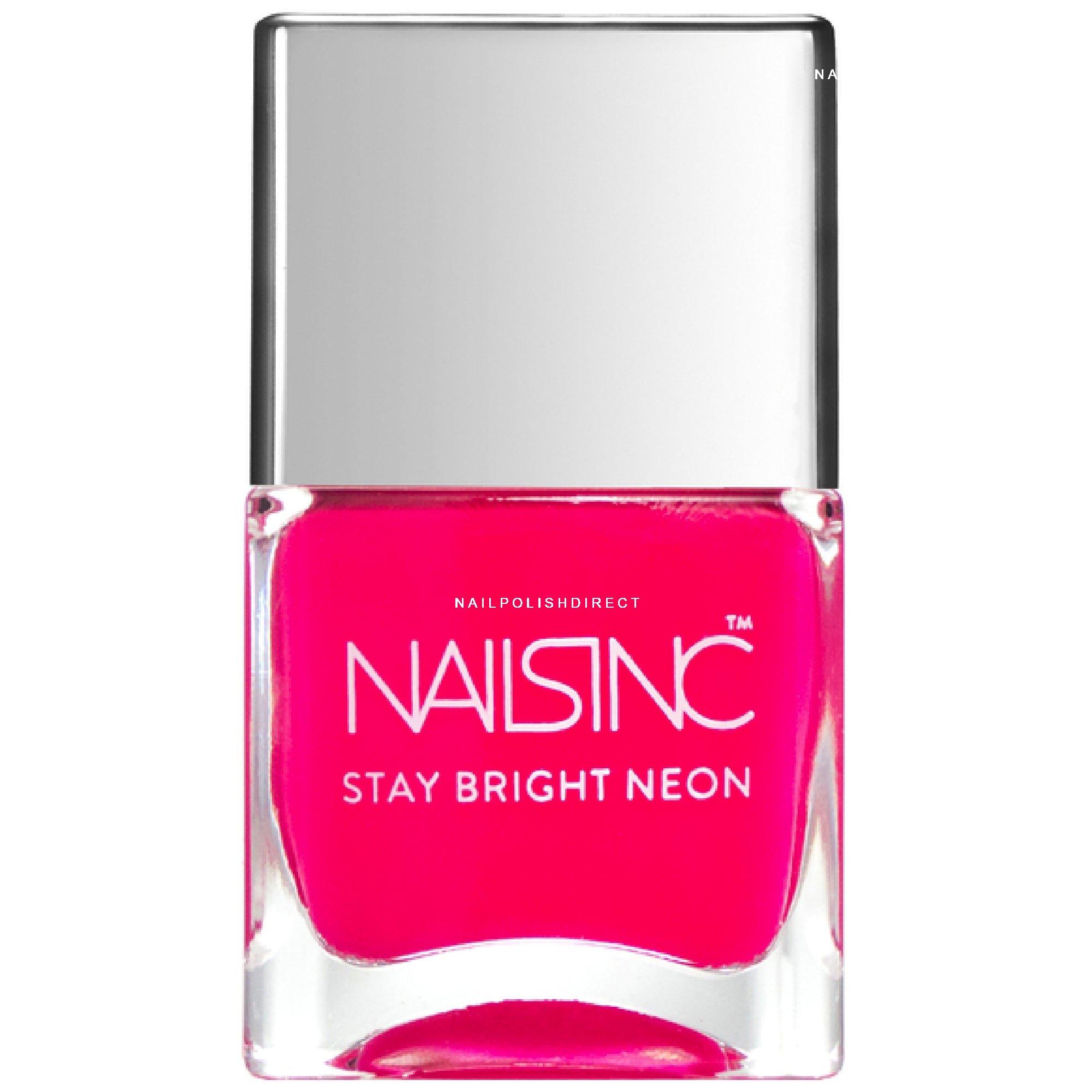 Nails inc Stay Bright Neon Nail Polish - Claridge Gardens (8643) 14ml