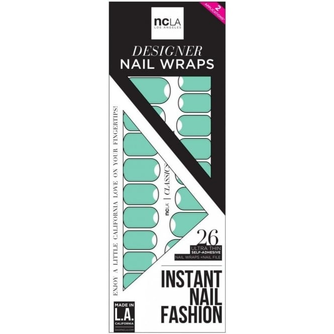 ncLA Los Angeles Instant Nail Fashion Designer Nail Wraps - 2 Nights At The Paradise Motel (26 Wraps)