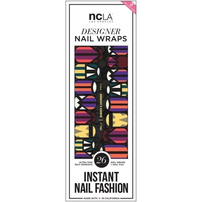 ncLA Los Angeles Instant Nail Fashion Designer Nail Wraps - Always A Stunner (26 Wraps)