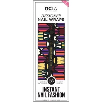 Instant Nail Fashion Designer Nail Wraps - Always A Stunner (26 Wraps)