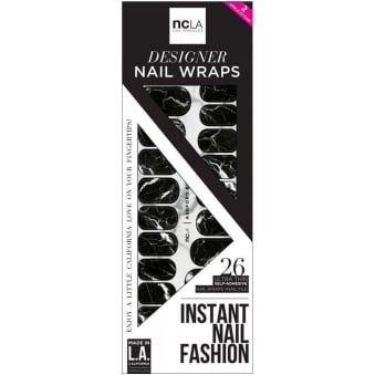 Instant Nail Fashion Designer Nail Wraps - Ashford Black (26 Wraps)
