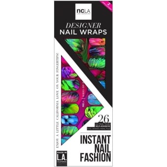 Instant Nail Fashion Designer Nail Wraps - Birds Of Paradise (26 Wraps)