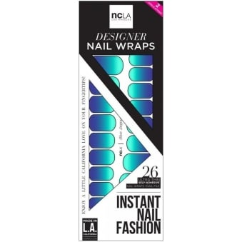 Instant Nail Fashion Designer Nail Wraps - Blue Lagoon (26 Wraps)