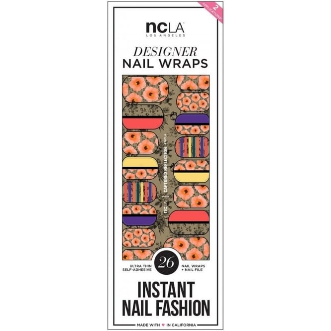 ncLA Los Angeles Instant Nail Fashion Designer Nail Wraps - Captured Reflection (26 Wraps)