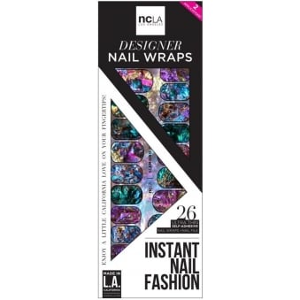 Instant Nail Fashion Designer Nail Wraps - Diamond Ore (26 Wraps)