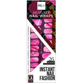 Instant Nail Fashion Designer Nail Wraps - Flamingo Faux (26 Wraps)