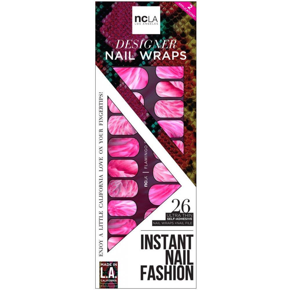 Ncla Instant Nail Fashion Designer Nail Wraps Flamingo Faux
