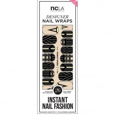Instant Nail Fashion Designer Nail Wraps - Forever Luxurious (26 Wraps)