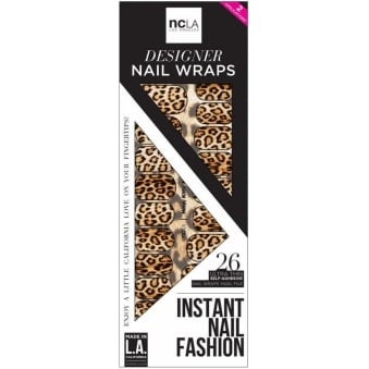 Instant Nail Fashion Designer Nail Wraps - Here Kitty Kitty (26 Wraps)
