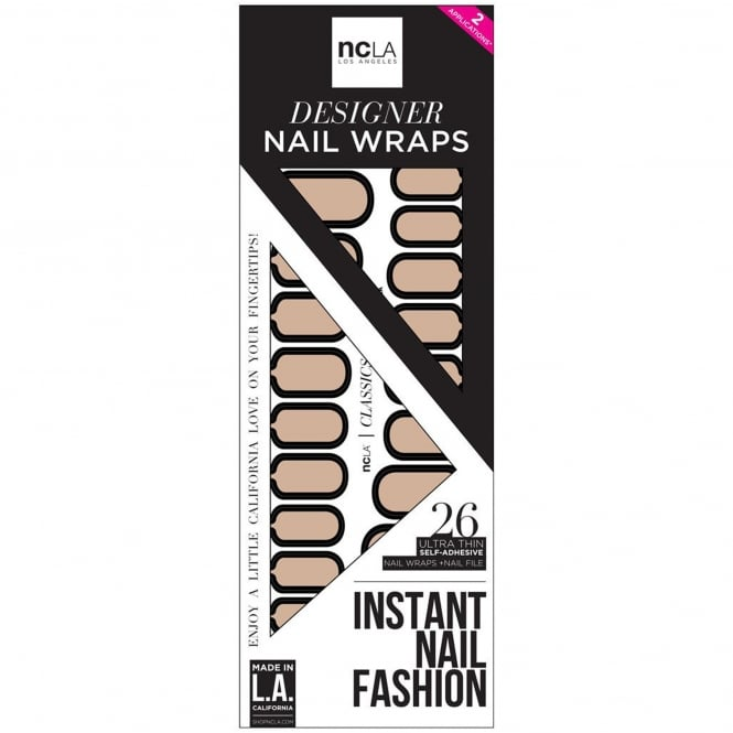 ncLA Los Angeles Instant Nail Fashion Designer Nail Wraps - Holding Onto Nothing (26 Wraps)