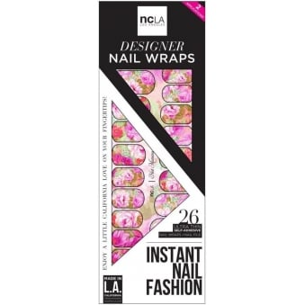 Instant Nail Fashion Designer Nail Wraps - Hot Mamma (26 Wraps)