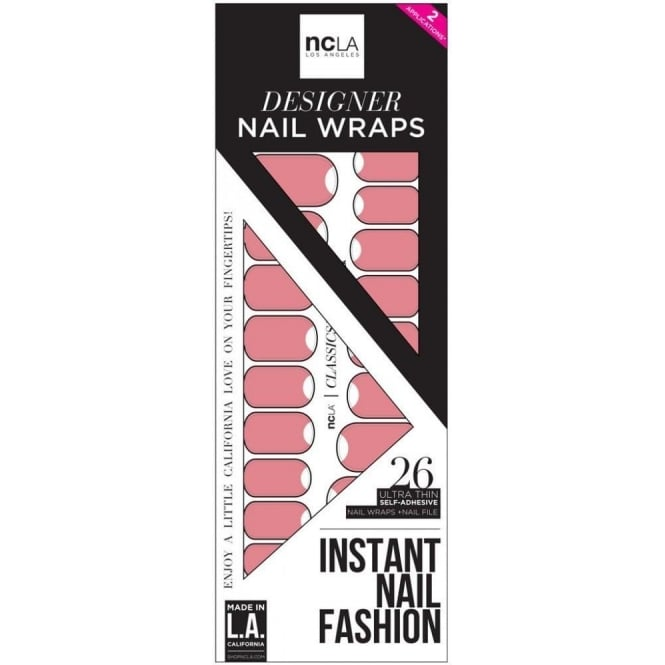 ncLA Los Angeles Instant Nail Fashion Designer Nail Wraps - How Many Selfies Does She Need (26 Wraps)