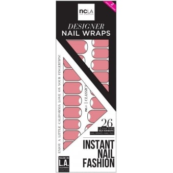 Instant Nail Fashion Designer Nail Wraps - How Many Selfies Does She Need (26 Wraps)