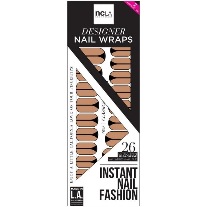 ncLA Los Angeles Instant Nail Fashion Designer Nail Wraps - Imagine It Was Us (26 Wraps)