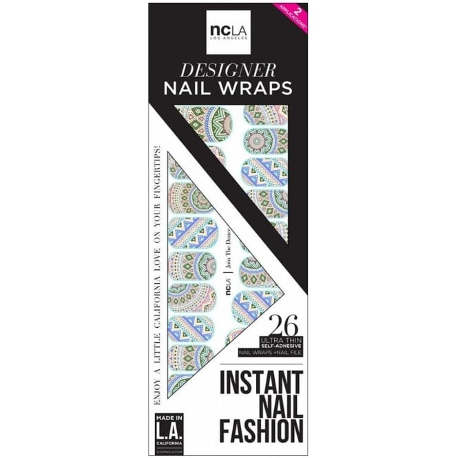 ncLA Los Angeles Instant Nail Fashion Designer Nail Wraps - Join The Dance (26 Wraps)