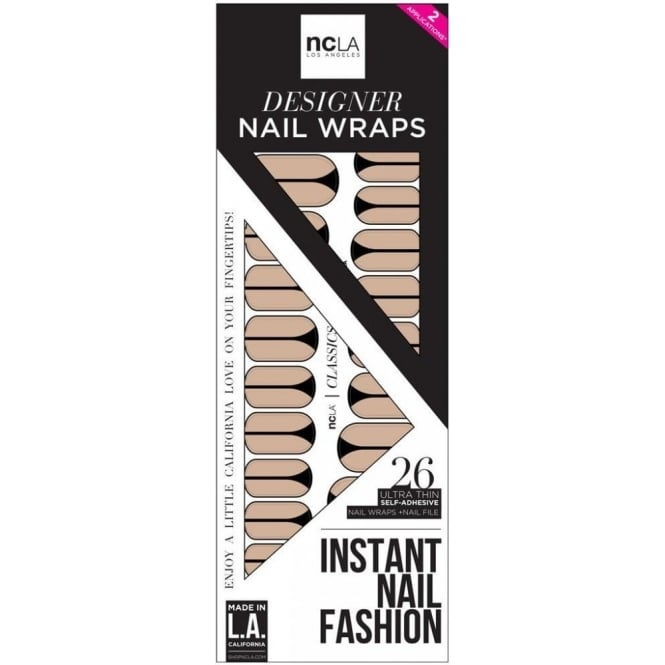 ncLA Los Angeles Instant Nail Fashion Designer Nail Wraps - Just Show A Little More Skin (26 Wraps)