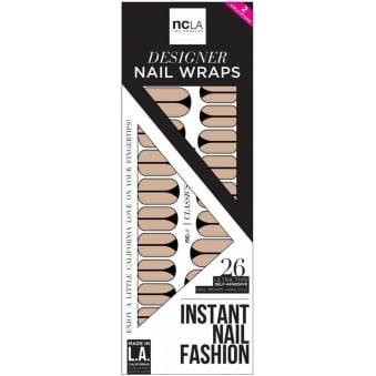 Instant Nail Fashion Designer Nail Wraps - Just Show A Little More Skin (26 Wraps)
