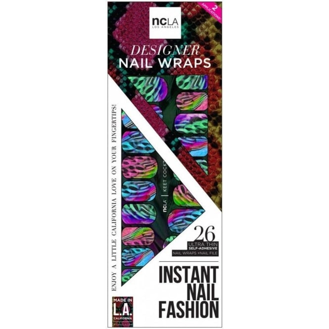 ncLA Los Angeles Instant Nail Fashion Designer Nail Wraps - Keet Cocktail (26 Wraps)