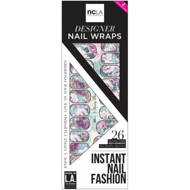 ncLA Los Angeles Instant Nail Fashion Designer Nail Wraps - Mommy Dearest (26 Wraps)
