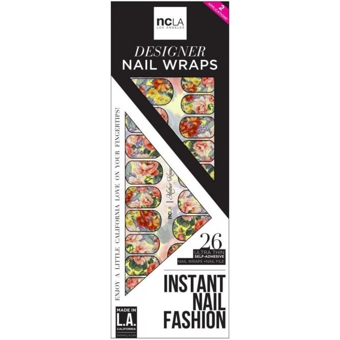 ncLA Los Angeles Instant Nail Fashion Designer Nail Wraps - Mother Knows Best (26 Wraps)