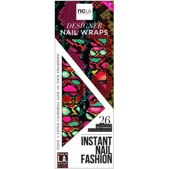 Instant Nail Fashion Designer Nail Wraps - Python Topic (26 Wraps)