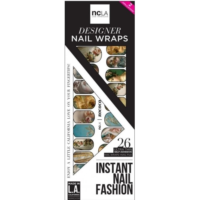 ncLA Los Angeles Instant Nail Fashion Designer Nail Wraps - Rococo (26 Wraps)