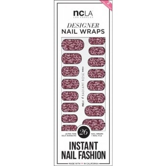 Instant Nail Fashion Designer Nail Wraps - Rose Radiant Glitter (26 Wraps)
