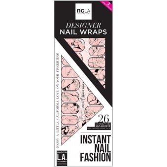 Instant Nail Fashion Designer Nail Wraps - Rose Rock (26 Wraps)