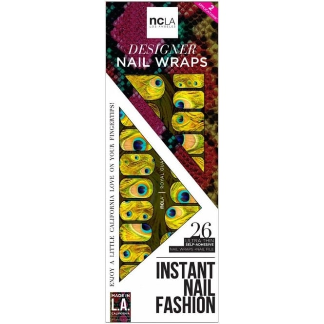 ncLA Los Angeles Instant Nail Fashion Designer Nail Wraps - Royal Guard (26 Wraps)