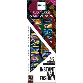 Instant Nail Fashion Designer Nail Wraps - Serpentine (26 Wraps)