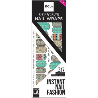 Instant Nail Fashion Designer Nail Wraps - Summer Of Love (26 Wraps)