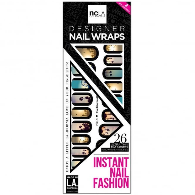 ncLA Los Angeles Instant Nail Fashion Designer Nail Wraps - What Filter Should I Use (26 Wraps)