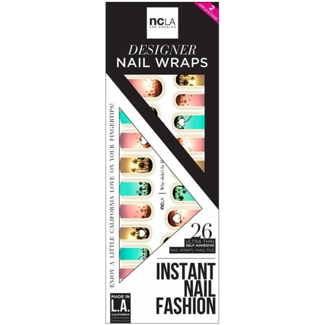 ncLA Los Angeles Instant Nail Fashion Designer Nail Wraps - Why Didn't He Like My Pic Yet (26 Wraps)