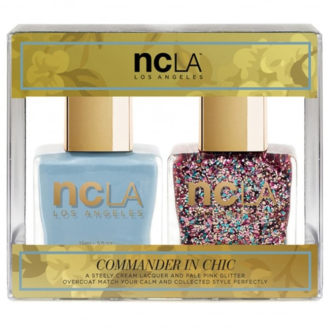 ncLA Los Angeles Nail Polish Collection Fashion Nail Lacquer Duo - Commander In Chic (x2 15ml)