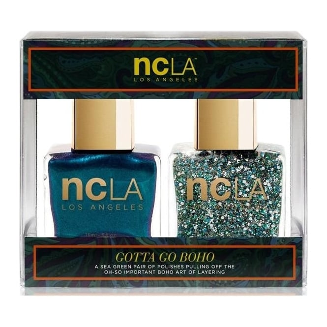 ncLA Los Angeles Nail Polish Collection Fashion Nail Lacquer Duo - Gotta Go Boho (x2 15ml)
