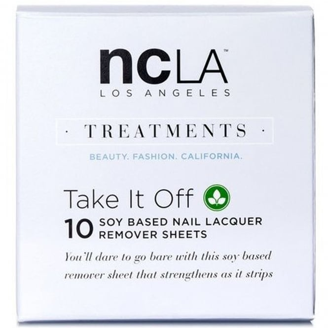 ncLA Los Angeles Nail Polish Collection Fashion Treatment Nail Lacquer Soy Based Remover - Take It Off (10 Sheets)