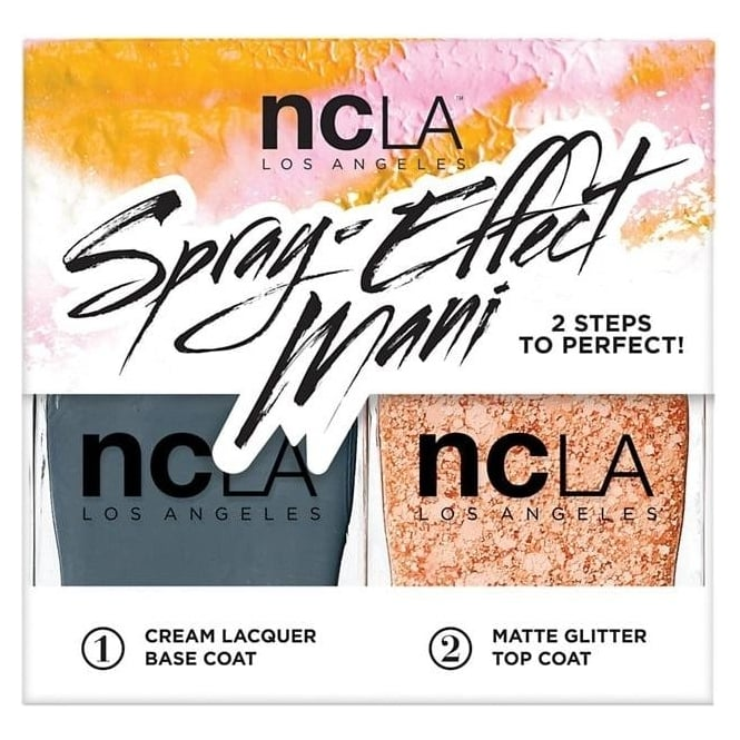 ncLA Los Angeles Nail Polish Spray Effect Collection Fashion Nail Lacquer Duo - Play Date (x2 15ml)