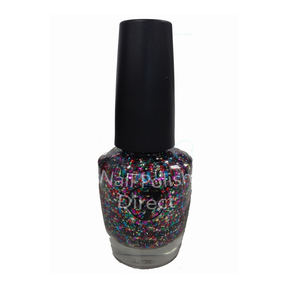 Green Glitter Nail Polish Uk: New W7 Multi Glitter Dazzle Nail Polish (116